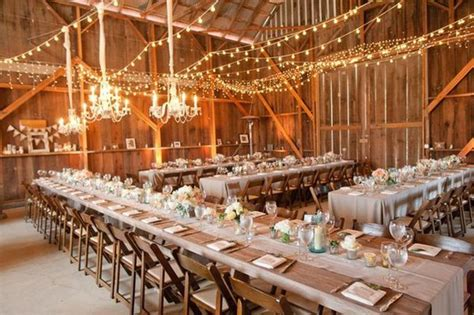 Lights And Decor by 10 Barn Wedding Decor Ideas