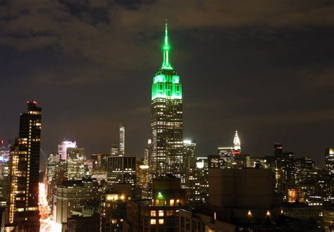 empire state lights today empire state building turns green for eid the times of
