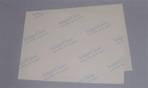 How To Make Water Slide Paper - hornby restorations parts water slide decal sheets