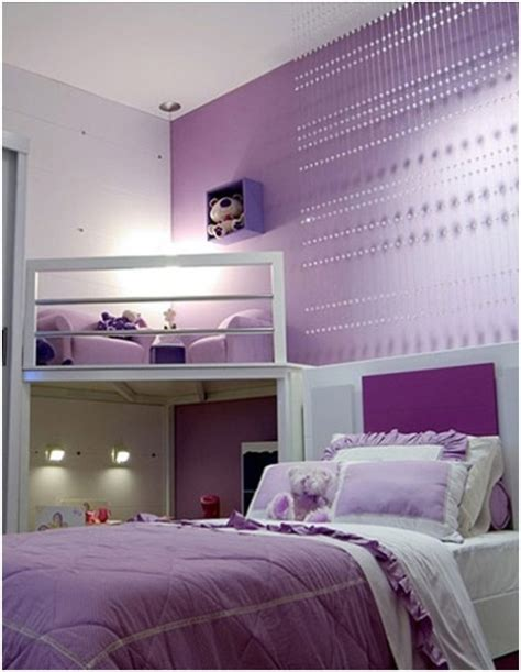 Girls Purple Bedroom Decorating Ideas Interior Design Purple Design Bedroom