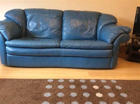 Teal Blue Leather Sofa Teal Blue Leather Sofa Smileydot Us