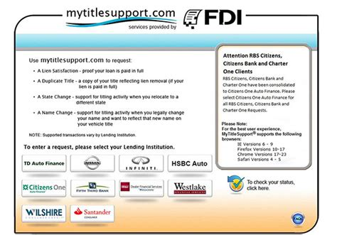 My Title www mytitlesupport title support services
