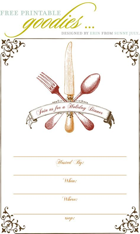 dinner invitation card template free free dinner invitation template best ideas