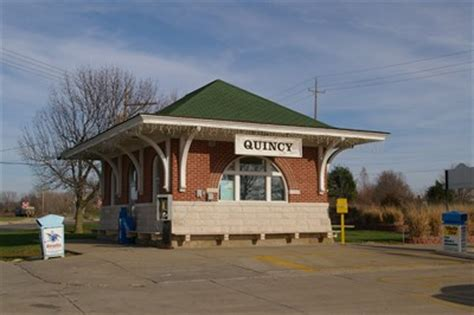quincy il amtrak depot stations depots on