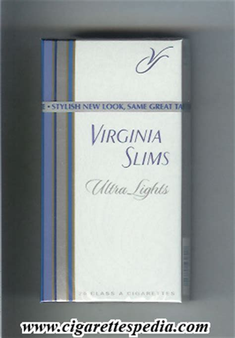 Virginia Search By Name Virginia Slims Name By Two Lines Ultra Lights L 20 H Usa Cigarettes Pedia