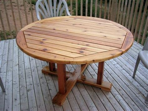 Cedar Patio Table Plans Wooden Patio Table Plans Woodideas