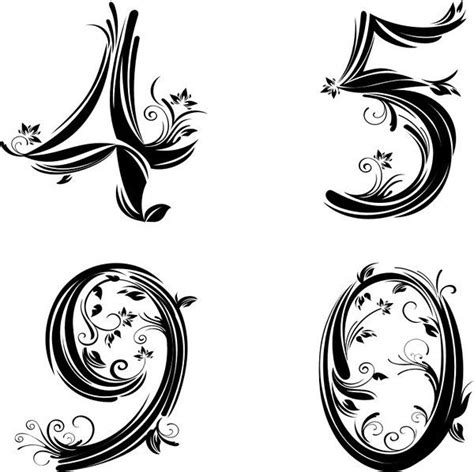 number 9 tattoo designs 1000 ideas about number fonts on font