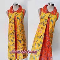 Dress Batik Tulis Kuning 01 model baju batik remaja modern baju kerja batik