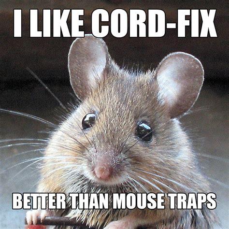 Mouse Meme - building a better mousetrap cord fix