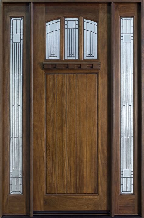Solid Wood Front Doors With Glass Engaging Pictures Of Front Doors On Houses With Wooden Material Front Door And Two Handles Also