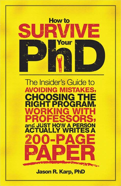 how to complete and survive a doctoral dissertation ronpaku dissertation phd