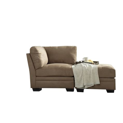 ashley chaise lounge ashley iago 2 piece chaise lounge in mocha 65105 51 08 pkg