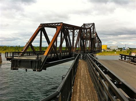 manitoulin swing bridge fish cage strikes swing bridge in little current sudbury