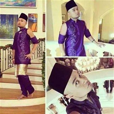 Viral Baju Kurung gambar lelaki pakai baju melayu terlau tersebar tengok tv