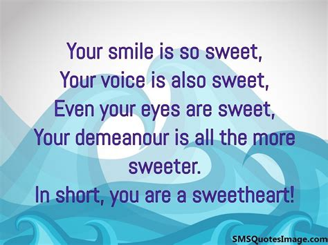 Your A Sweetheart Quotes you are a sweetheart sms quotes image