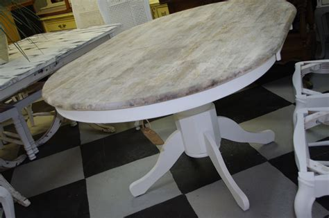 coastal chic boutique rustic weathered oval dining table