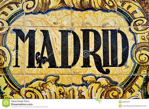 madrid sign royalty  stock  image
