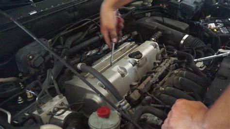 changing  valve cover gasket  honda crv youtube