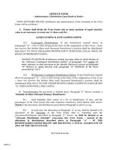 estate distribution letter template sle trust demo