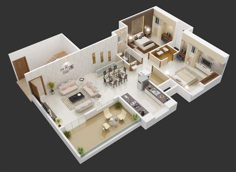 planos de casas en 3d 25 planos geniales en 3d para distribuci 243 n de planta ideas casas small cottages