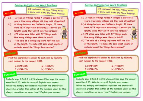 themed stories nz maths viking themed multiplication word problems involving