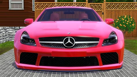 black and pink mercedes fresh prince creations sims 3 2009 mercedes benz sl65