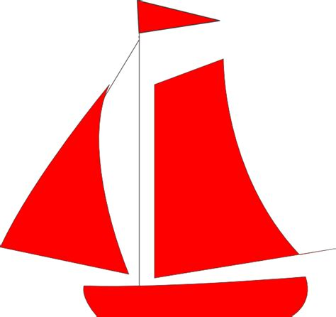 cartoon red boat red sail boat clip art at clker vector clip art
