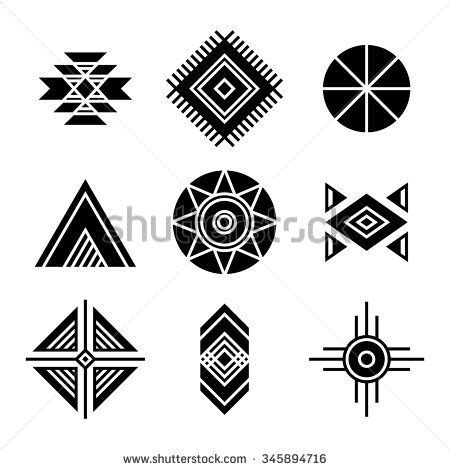 geometric pattern meanings native american indians tribal symbols set geometric