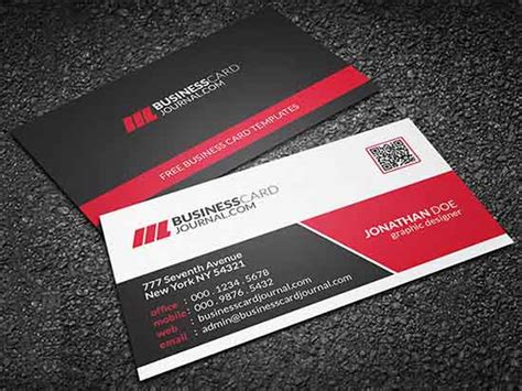 template program make business cards 8 free business card templates excel pdf formats