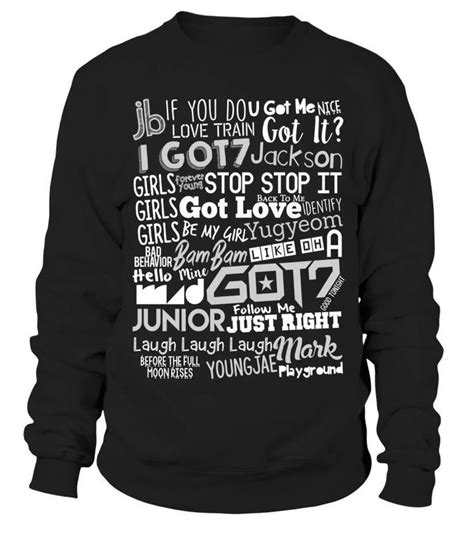 Sweater Got7 Sleeve Pilih Nama Member 59 best images about kpop merch that i want quq on
