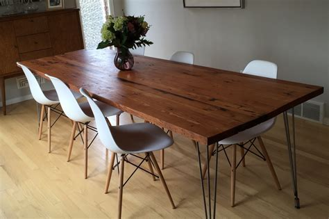 Recycled Wood Dining Tables Burnside Reclaimed Douglas Fir Dining Table Stumptown Reclaimed Reclaimed Wood Furniture