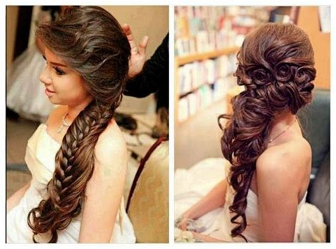 haircuts for thin long hair india bridal hair wedding day wedding hairstyles for long