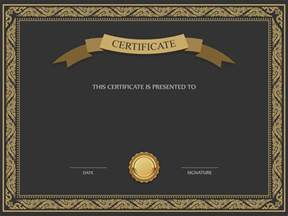 Certificate Template Png Transparent black and brown certificate template png image gallery