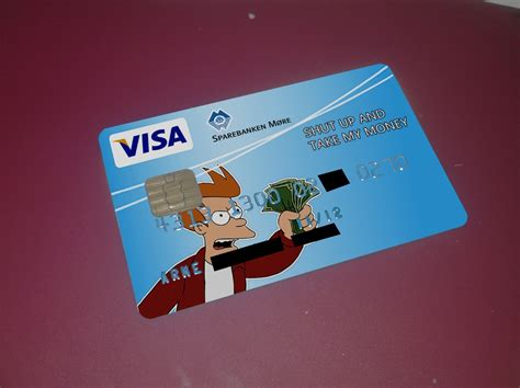 shut up and take my money card template my bank just approved my new personal visa card design