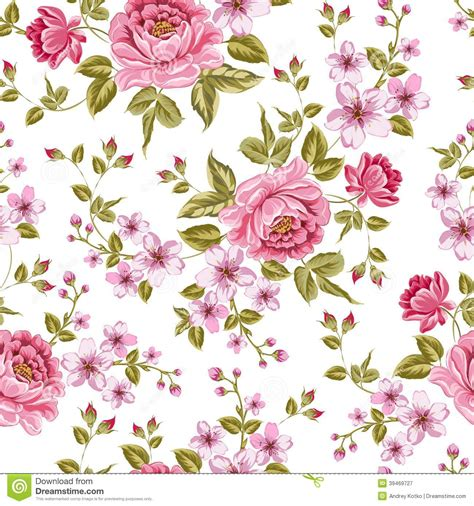 peoni pattern font free luxurious color peony pattern stock vector illustration
