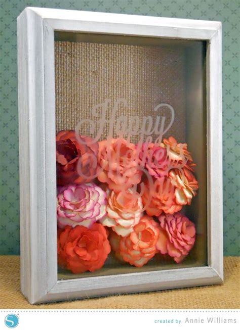 paper flower shadow box tutorial 17 best images about cricut shadow box on pinterest