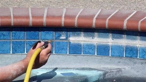 glass bead blasting pool tile diy pool tile cleaning or hire a professional above all