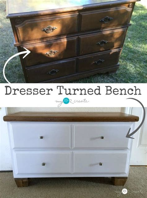 dresser turned into bench dresser turned bench my repurposed life