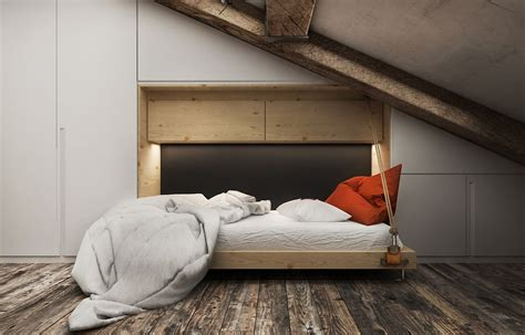 muphy bed 3 creative top floor rooms with wood accents