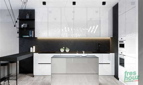 shiny white kitchen cabinets 41 inspiring black and white kitchen design freshouz