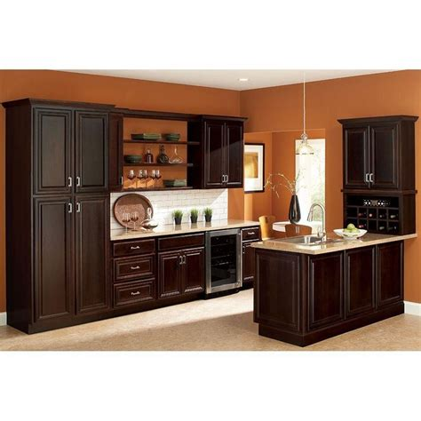 discount kitchen cabinets bay hton bay assembled 18x84x24 in cambria pantry cabinet