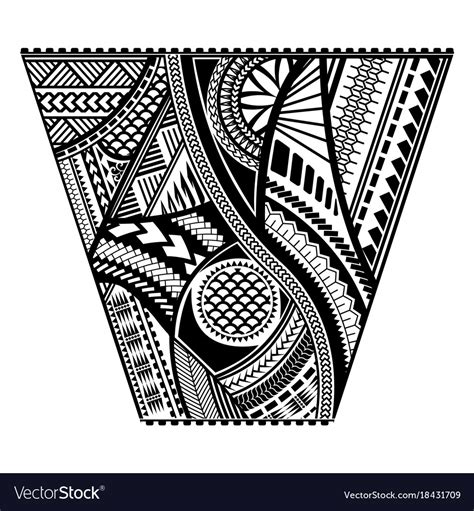 polynesian tattoo style sleeve design royalty free vector