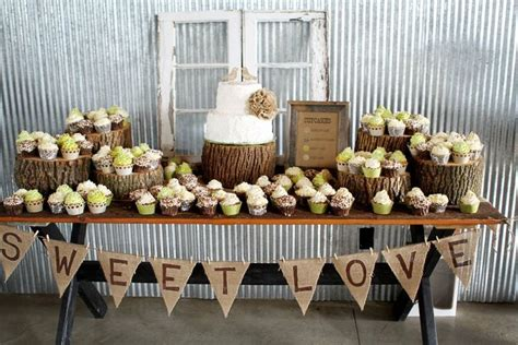 rustic wedding table decorations ideas like the banner for the cookie table wedding ideas sweet signs and