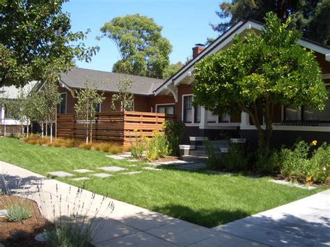 Front yard fencing landscape contemporary with wood