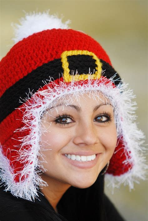 santa beanie fun crochet hat pinterest