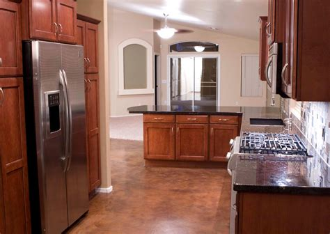 cherry cabinets with wood floors black granite countertops with cherry cabinets