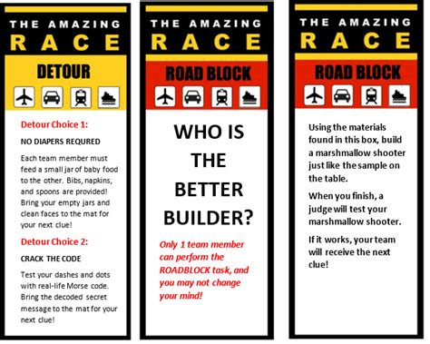 free amazing race clue cards templates amazing race 11th birthday profoundly ordinary