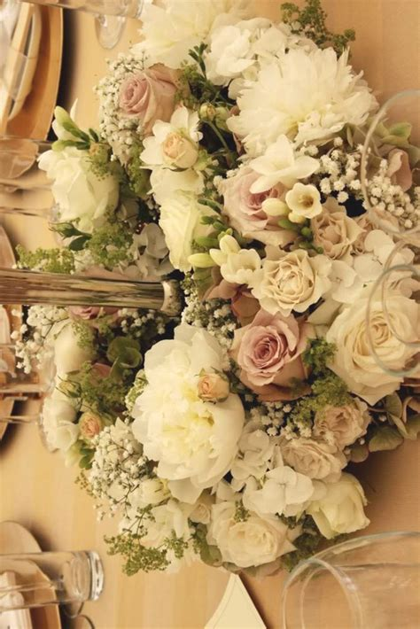 vintage dusky pink wedding colour themes and dusky wedding wedding flowers table centre dusky pink cream and sage