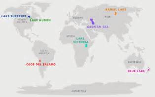worlds largest lake on map lakes of the world the 7 continents
