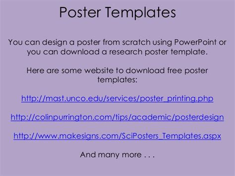 Mast Powerpoint Poster Template research poster design